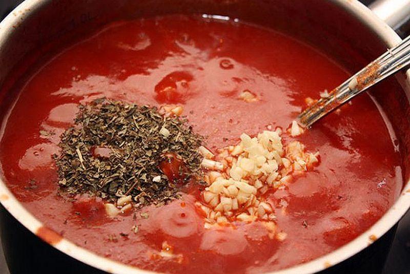 Как сделать томатный соус красным