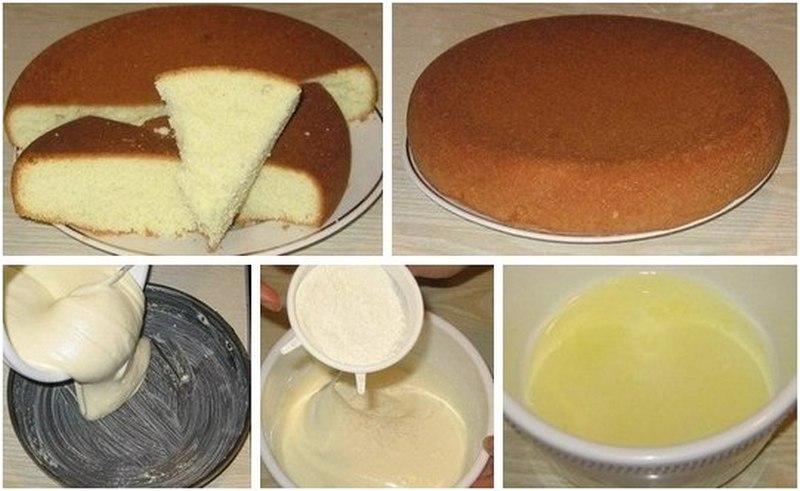 Тесто бисквитное на торт в домашних условиях 740