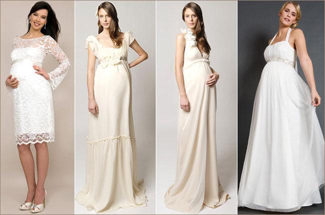 Скрывающие свадебные платья для беременных 54