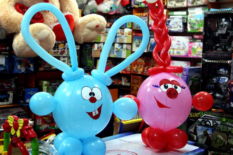 Смешарики из шариков для детей